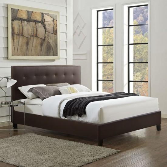 Κρεβάτι Brisa Με Pu Καφέ Hm552.02 150 x 200