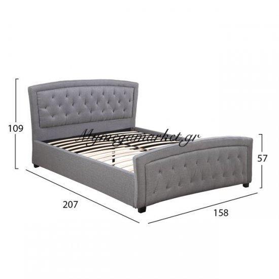 Κρεβατι Odelia Με Υφασμα Dark Grey Hm550.05 150X200 Στην κατηγορία Κρεβάτια ξύλινα - Μεταλλικά | Mymegamarket.gr