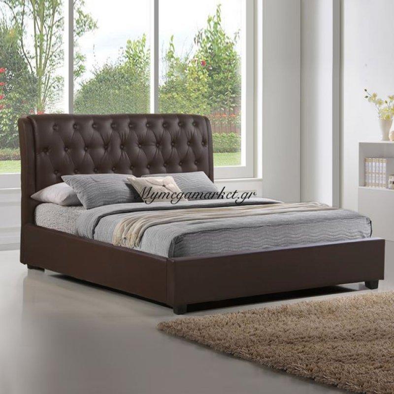 Κρεβάτι Odalys Με Pu Καφέ Hm549.02 150 x 200 Στην κατηγορία Κρεβάτια ξύλινα - Μεταλλικά | Mymegamarket.gr