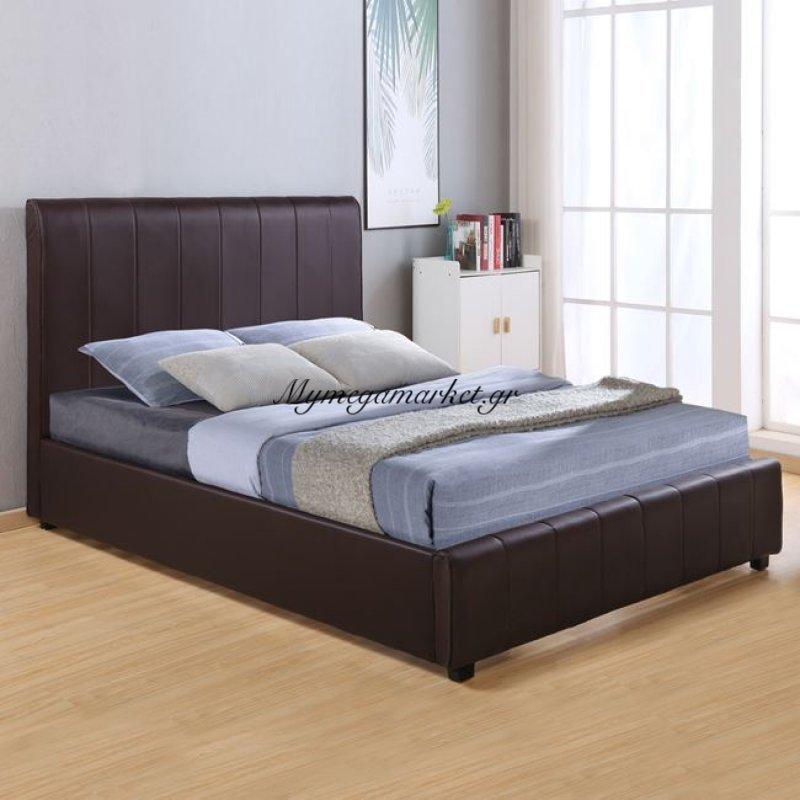 Κρεβάτι Beccy Με Pu Καφέ Hm556.02 150X200