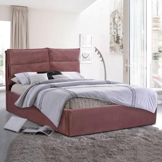 Κρεβάτι Royalty Hm563.02 Υπέρδιπλο 160Χ200 Με Ύφασμα Βελούδο Σάπιο Μήλο