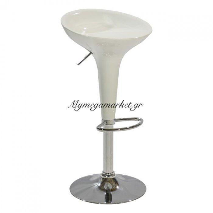 Σκαμπω Bar Daisy Hm200.02 Με Αμορτισέρ Σε Λευκό Χρώμα | Mymegamarket.gr