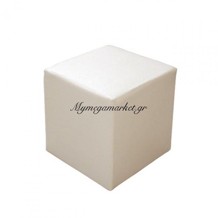 Σκαμπω Επαγγελματικό Pu Εκρού Τετράγωνο 39.5X39.5X45 Hm282.04 | Mymegamarket.gr