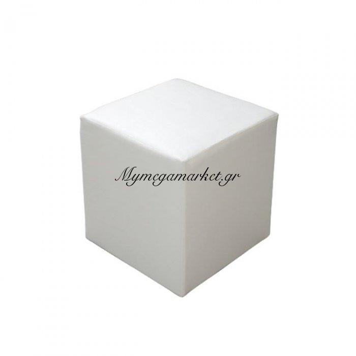 Σκαμπω Επαγγελματικό Pu Λευκό Τετράγωνο 39.5Χ39.5Χ45 Hm282.01 | Mymegamarket.gr