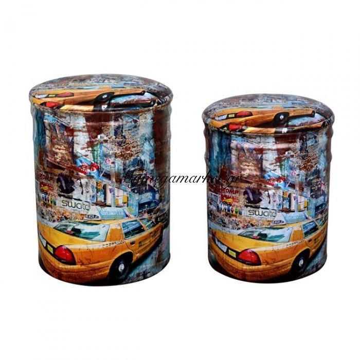 Μεταλλικό Σκαμπό Σετ 2Τμχ Hm267 Yellow Car | Mymegamarket.gr