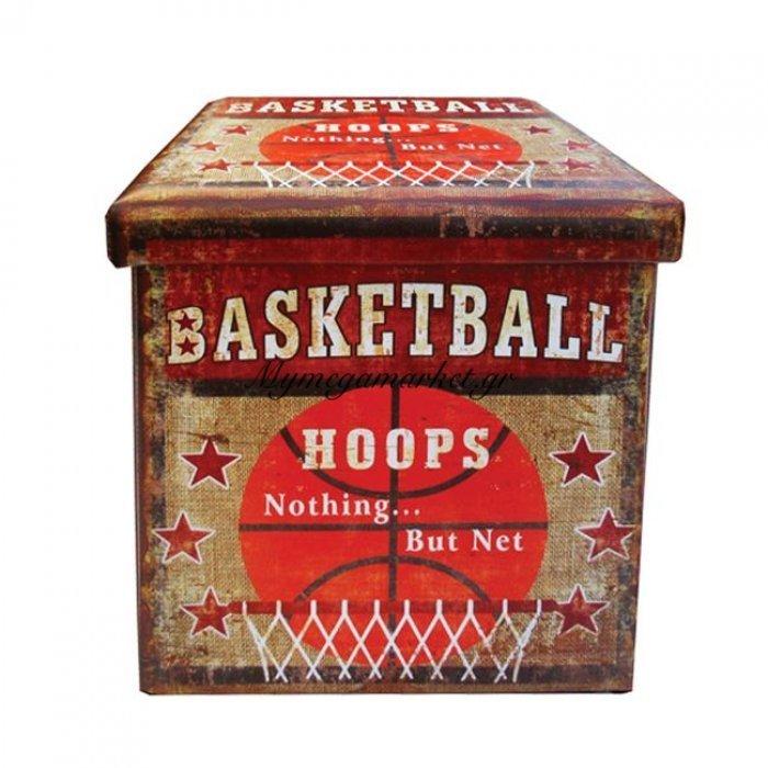 Σκαμπώ Απο Pu Με Αποθηκευτικό Χώρο Basketball 38X38X38 Hm8129 | Mymegamarket.gr