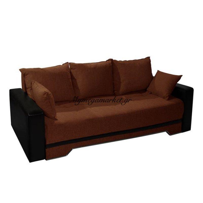 Καναπές Κρεβάτι Καφέ 3Θ Deniz 224Χ90Χ80 Hm3036.02