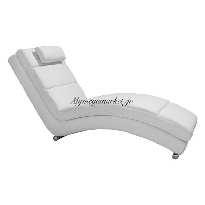 Ανακλινδρό Relax Από Τεχνόδερμα Pu Λευκό Hm0036.02
