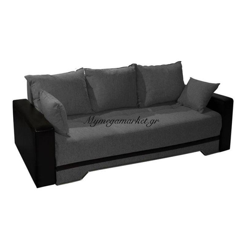 Καναπές Κρεβάτι Γκρι 3Θ Deniz 224Χ90Χ80 Hm3036.03