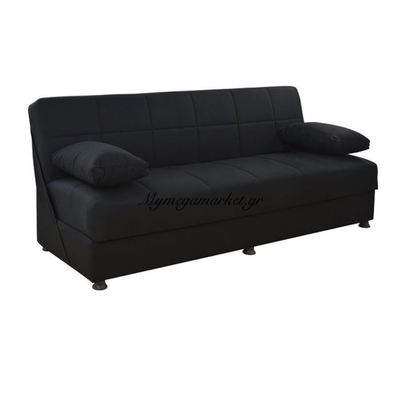 Καναπές Κρεβάτι 3Θεσιος Ege Με Ύφασμα Μαύρο Hm3067.01