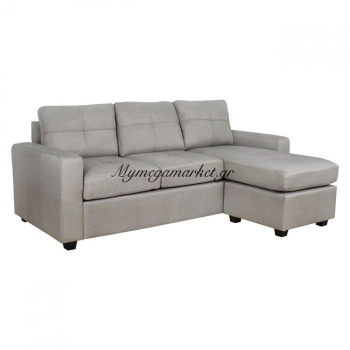 Καναπές Γωνία Hm3004.01 Αριστερή Και Δεξιά Σε Γκρι-Μπεζ Ύφασμα | Mymegamarket.gr