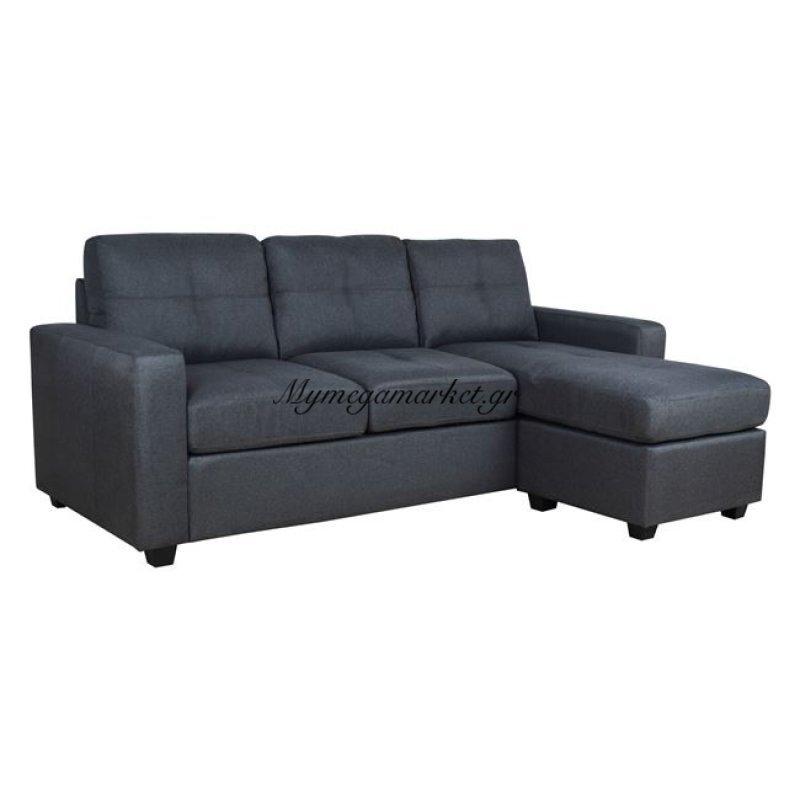 Καναπές Γωνία Hm3004.02 Αριστερή Και Δεξιά Σε Γκρι Ύφασμα
