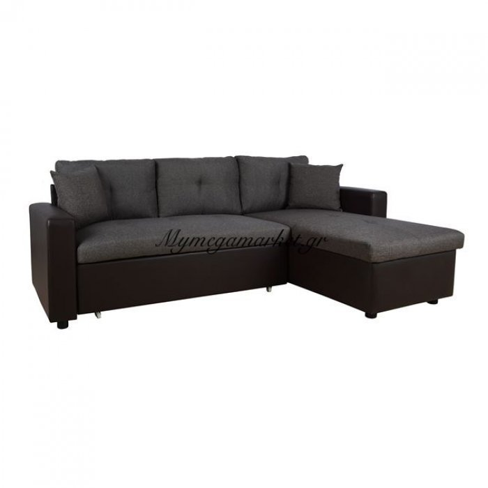 Καναπές Γωνία Κρεβάτι Hm3028.03 Γκρί Με Καφέ Pu | Mymegamarket.gr