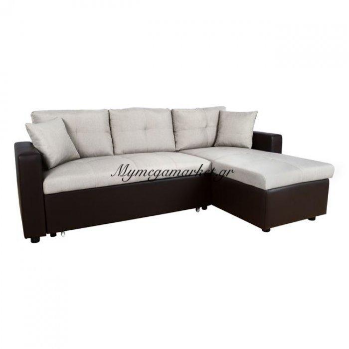 Καναπές Γωνία Κρεβάτι Hm3028.02 Εκρού Με Καφέ Pu | Mymegamarket.gr