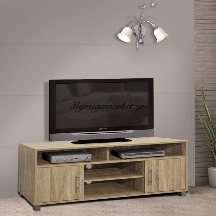 Έπιπλο Τηλεόρασης Μελαμίνης Hm2202.02 Sonama 120X40X54 Εκ. | Mymegamarket.gr