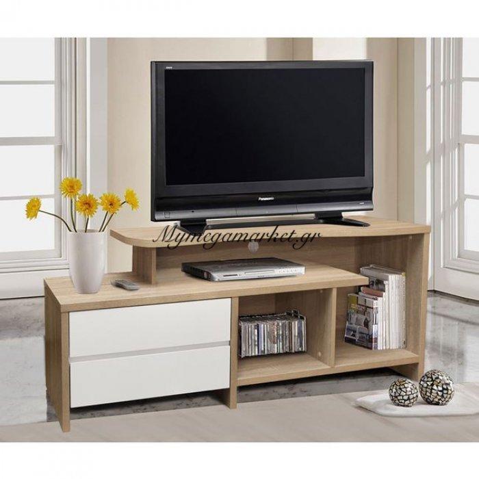 Έπιπλο Τηλεόρασης 2 Συρτάρια Hm2212.01 Sonama - Λευκό 148X40X60Εκ. | Mymegamarket.gr