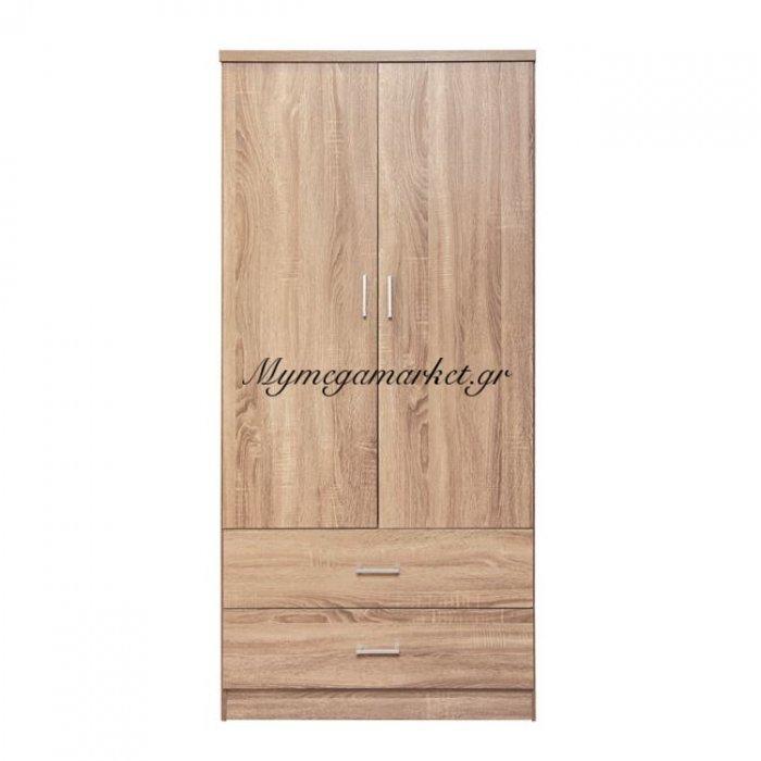 Ντουλάπα 2Φυλλη Με 2 Συρτάρια Hm338.02 Sonama 80Χ42Χ181Εκ. | Mymegamarket.gr