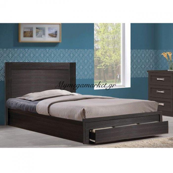 Κρεβάτι Melany Hm323.01 Με 1Συρταρι Zebrano 110Χ190   Mymegamarket.gr