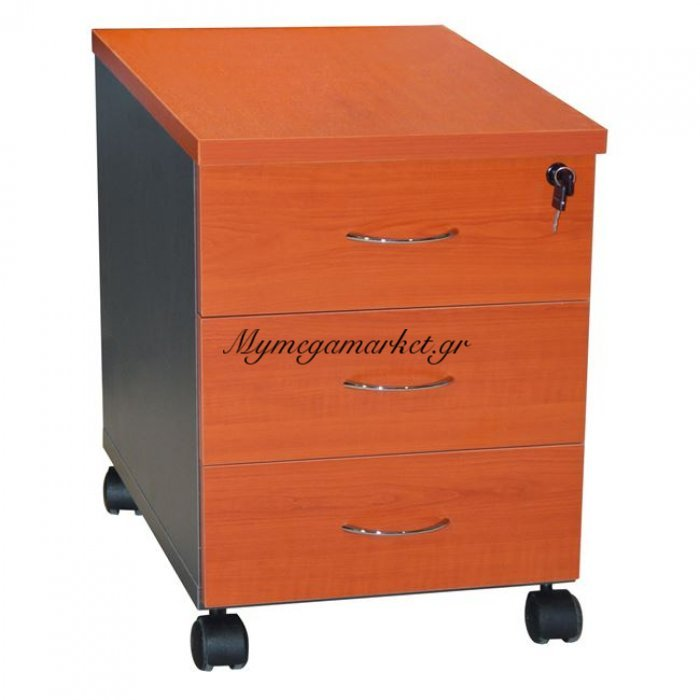 Συρταριέρα Γραφείου Επαγγελματική Hm2011.03 Κερασί Με 3Συρταρια | Mymegamarket.gr