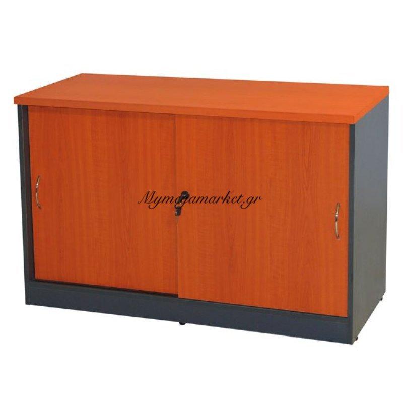 Ντουλάπι Γραφείου Πλαϊνό Επαγγελματικό Hm2012.03 Σε Χρώμα Κερασί