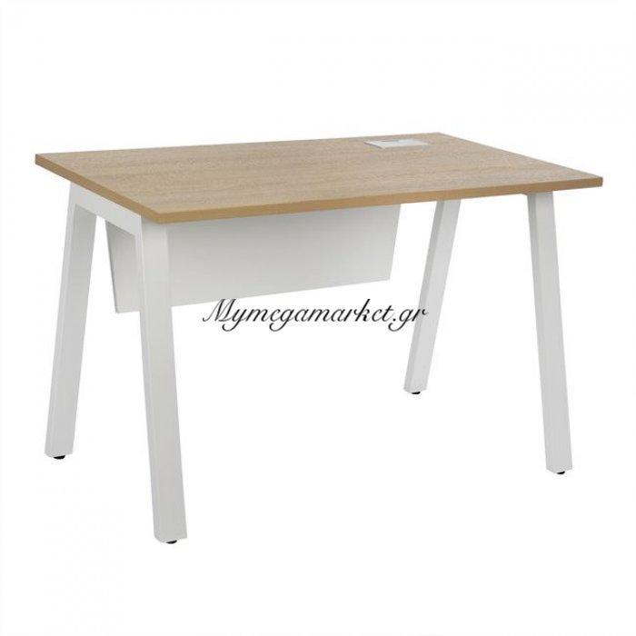 Γραφείο Status Hm2040.02 Sonama Λευκό 120X60X76,5 | Mymegamarket.gr