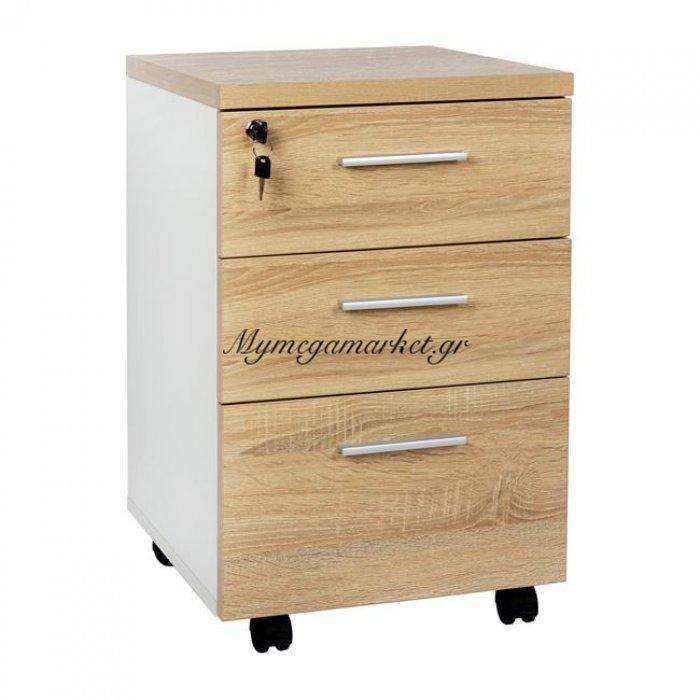 Συρταριέρα Γραφείου Hm2036.02 Sonama Λευκό 40Χ42X62 | Mymegamarket.gr