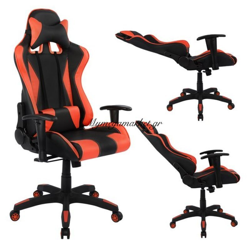 Καρέκλα Γραφείου Gaming Hm1062.01 Speed Μαύρο Κόκκινο Pu