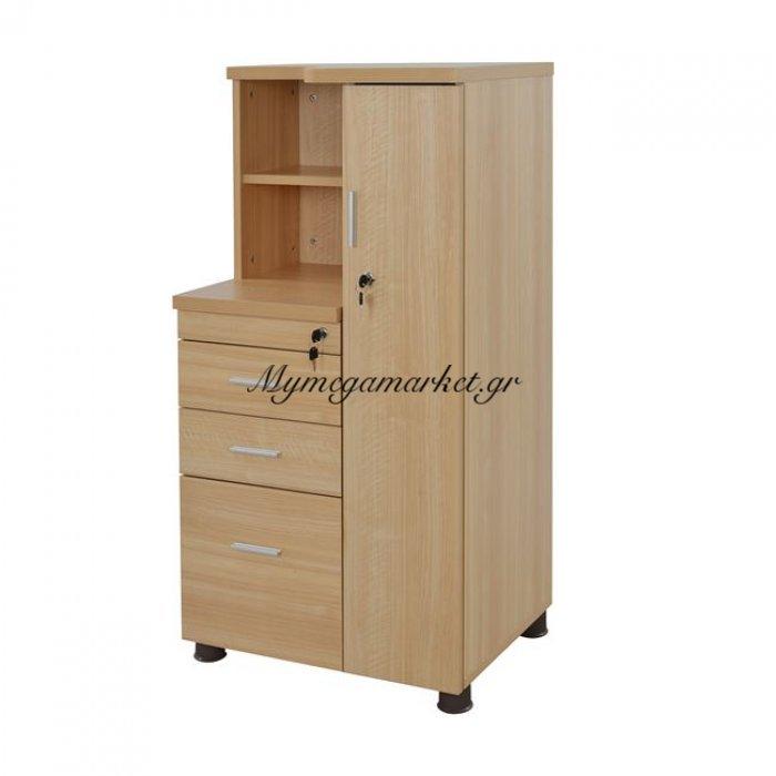 Ντουλάπι Γραφείου Επαγγελματικό Οξιά Hm2052.01R 60Χ46Χ120 | Mymegamarket.gr