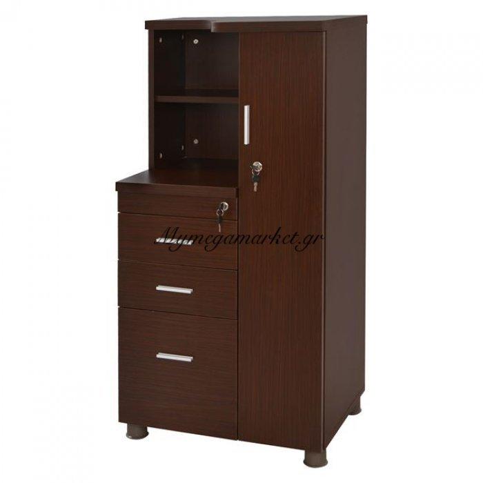 Ντουλάπι Γραφείου Επαγγελματικό Wenge Hm2052.02R 60X46X120 | Mymegamarket.gr