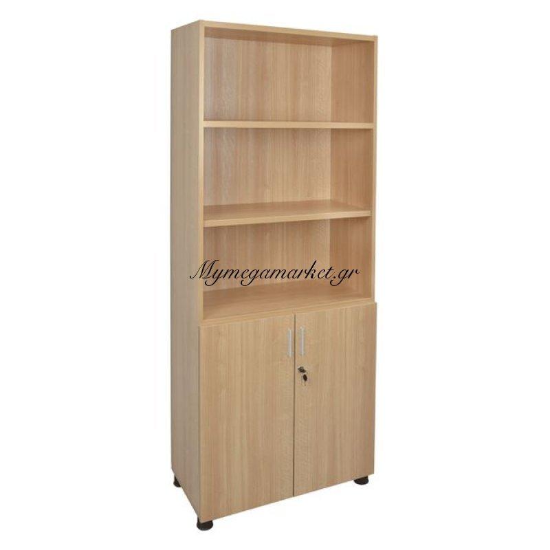 Βιβλιοθήκη Γραφείου Επαγγελματική Οξιά Hm2055.01 80X40X190