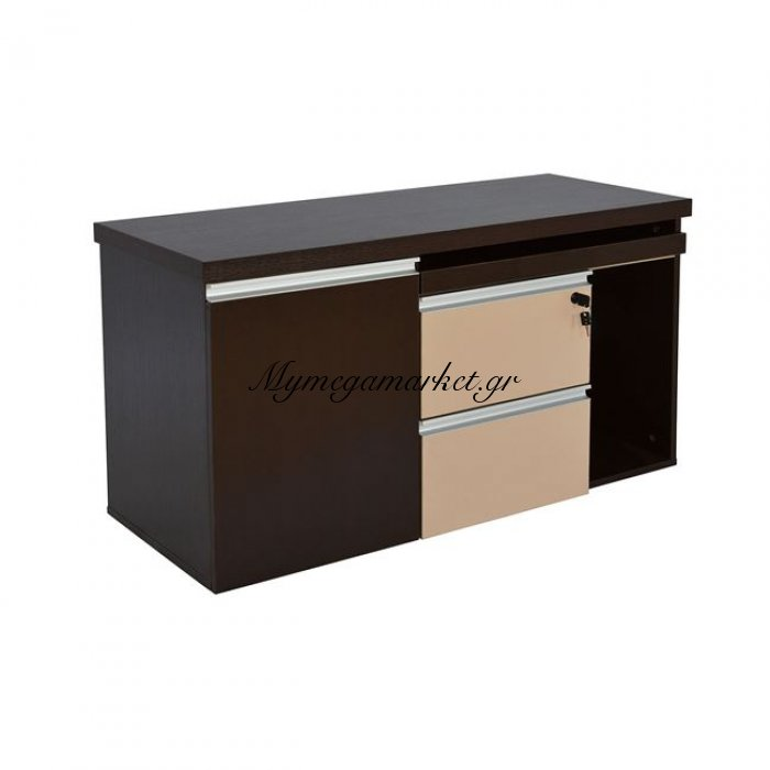 Συρταριέρα-Ντουλάπι Γραφείου 105X45 Wenge Μπέζ Hm2063.01   Mymegamarket.gr