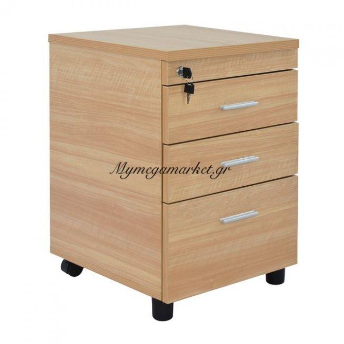 Συρταριέρα Γραφείου Επαγγελματική Οξιά Hm2048.11 40X52X60Υ Εκ. | Mymegamarket.gr