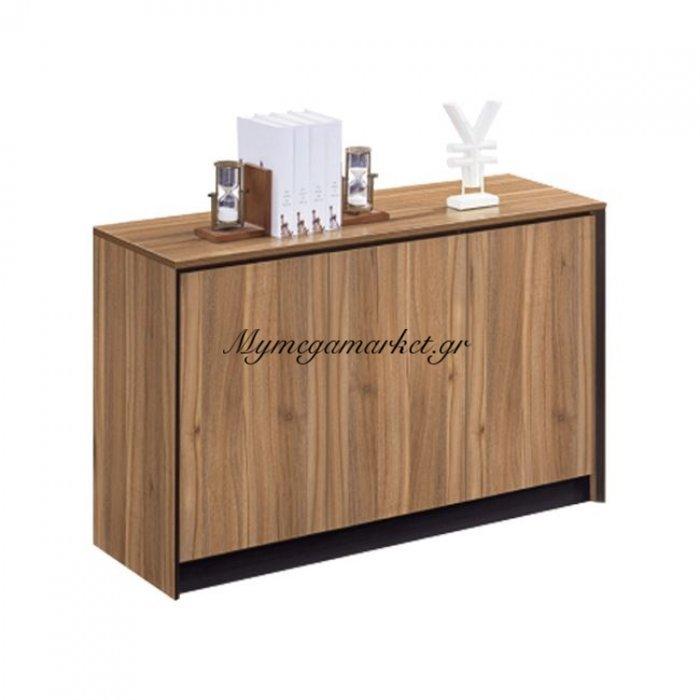 Ντουλάπι Γραφείου Hm2357 Φυσικό - Σκούρο Γκρι 120X40X80Υεκ. | Mymegamarket.gr