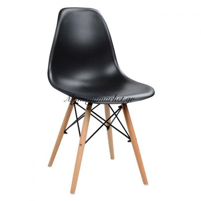 Καρέκλα Με Ξύλινα Πόδια Και Κάθισμα Μαύρη Pp Twist Hm0126.12 Συσκευασία 4Τμχ. | Mymegamarket.gr