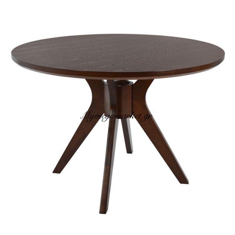 Τραπέζι Ξύλινο Σε Καρυδί Χρώμα Φ110 Hm0159.33