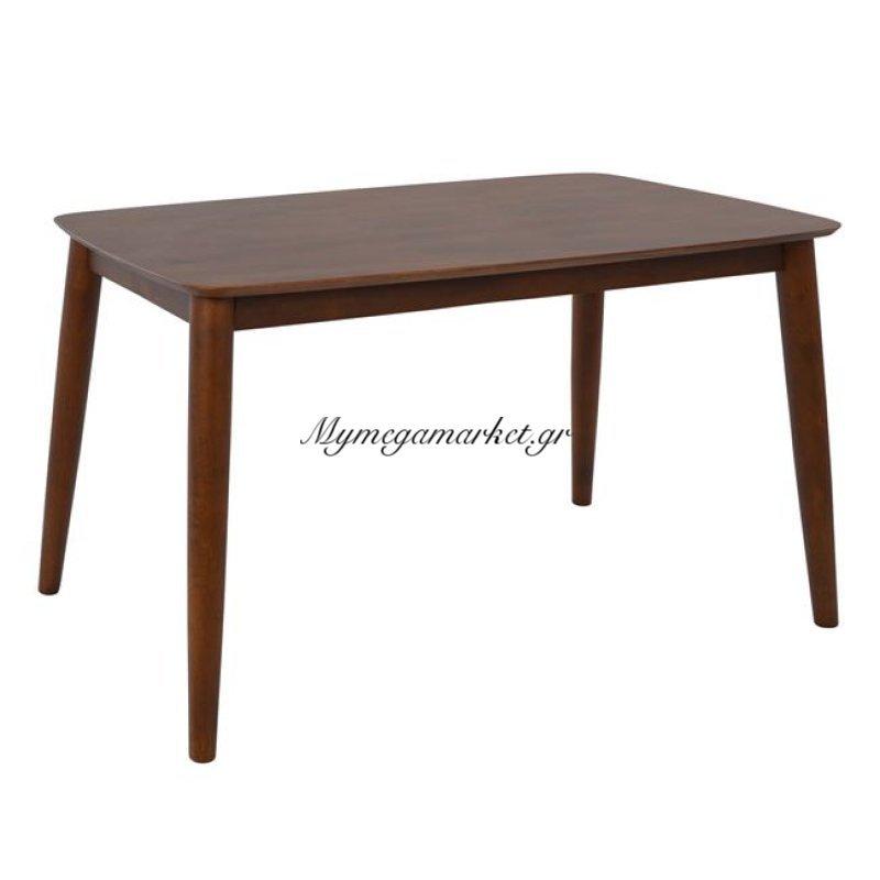Τραπέζι Pavillion Καρυδί Hm0188 120X75 Με Ξύλινα Πόδια