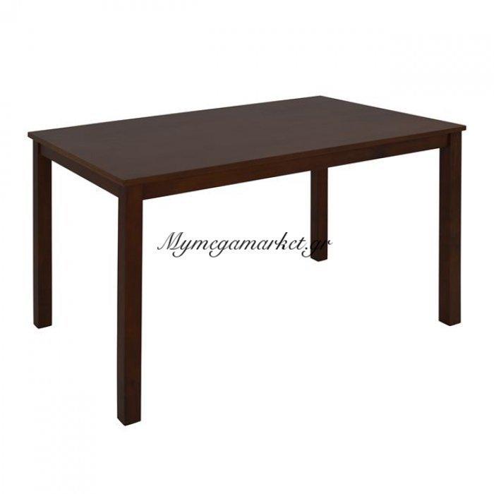 Τραπέζι Καρυδί Hm0189 120X74 Με Ξύλινα Πόδια | Mymegamarket.gr