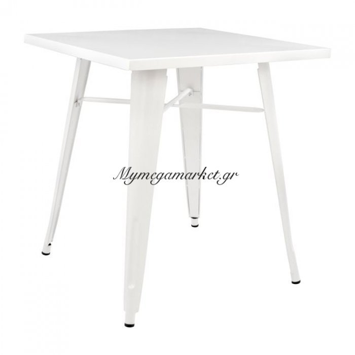 Τραπέζι Μεταλλικό Milk White Χρώμα Hm0607.21 70X70X76 | Mymegamarket.gr