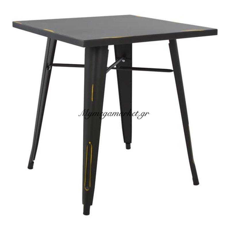 Τραπέζι Μεταλλικό Σε Χρώμα Μαύρη Πατίνα Hm0607.40 70X70X76