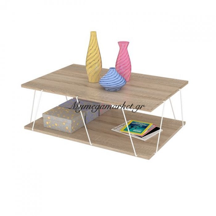 Τραπέζι Σαλονιού Tars Σε Χρώμα Sonama - Λευκό Hm2238.01 | Mymegamarket.gr