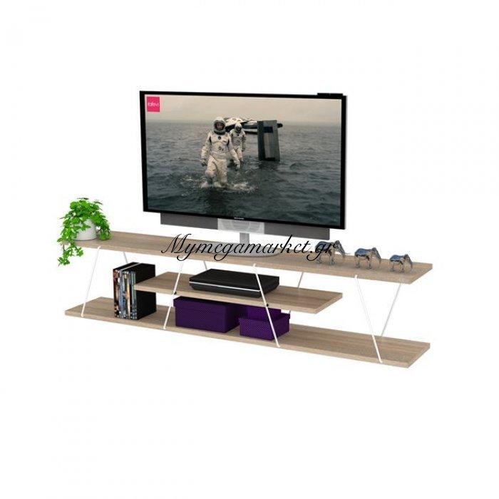 Έπιπλο Tv Tars Σε Χρώμα Sonama - Λευκό Hm2239.01 | Mymegamarket.gr