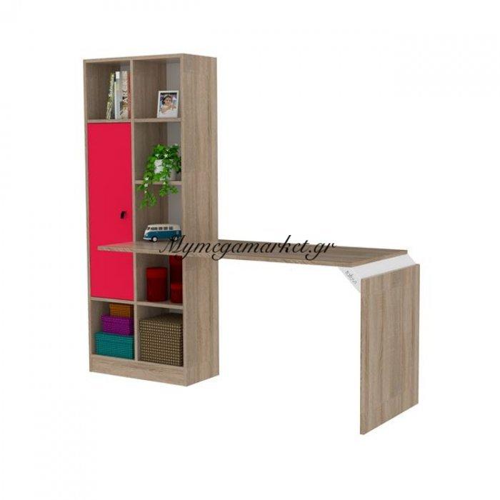 Γραφείο Με Βιβλιοθήκη Opus Σε Χρώμα Sonama - Ρόζ Hm2242.04 | Mymegamarket.gr