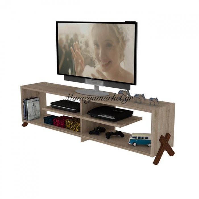 Έπιπλο Tηλεόρασης Kipp Σε Χρώμα Sonama - Καρυδί Hm2243.01 | Mymegamarket.gr