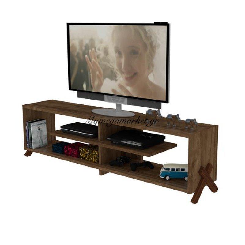 Έπιπλο Tηλεόρασης Kipp Σε Χρώμα Καρυδί Hm2243.03