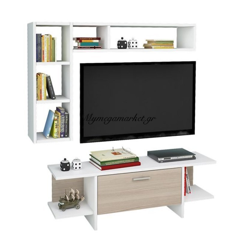 Έπιπλο Τηλεόρασης Aine Hm2251 Λευκό - Sonama