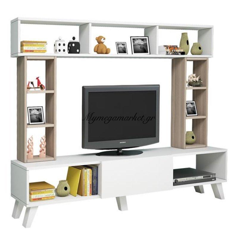 Έπιπλο Τηλεόρασης Adriana Hm2252 Λευκό - Sonama