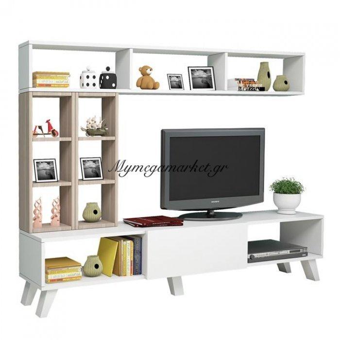 Έπιπλο Τηλεόρασης Charlize Hm2253 Λευκό - Sonama | Mymegamarket.gr