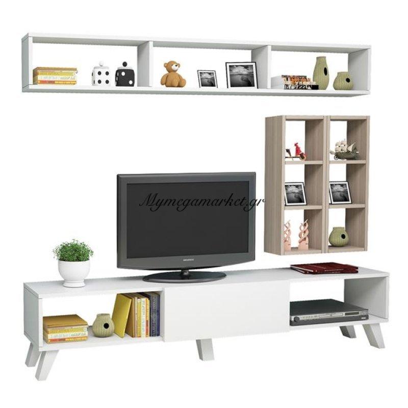Έπιπλο Τηλεόρασης Jania Hm2254 Λευκό - Sonama