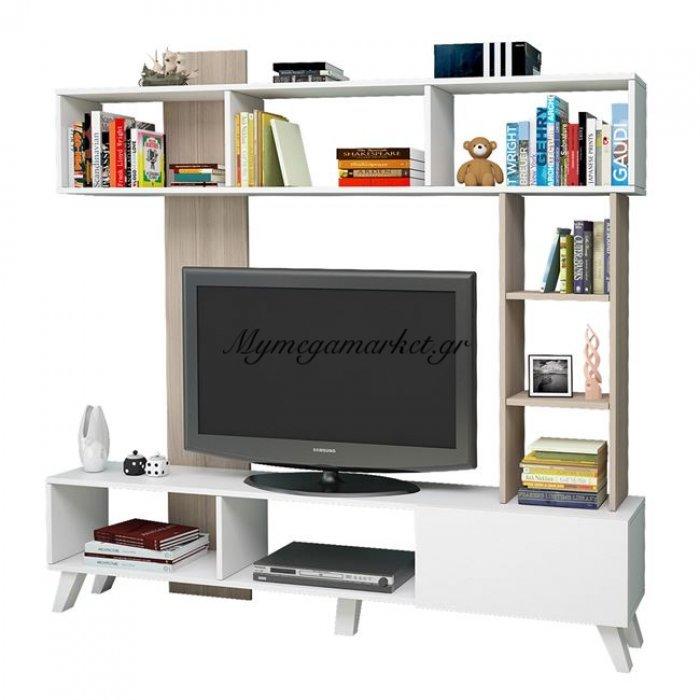 Έπιπλο Τηλεόρασης Layla Hm2257 Λευκό - Sonama | Mymegamarket.gr