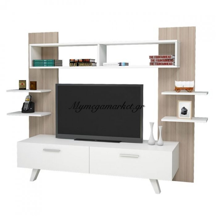 Έπιπλο Τηλεόρασης Lettie Hm2259 Λευκό  -Sonama | Mymegamarket.gr
